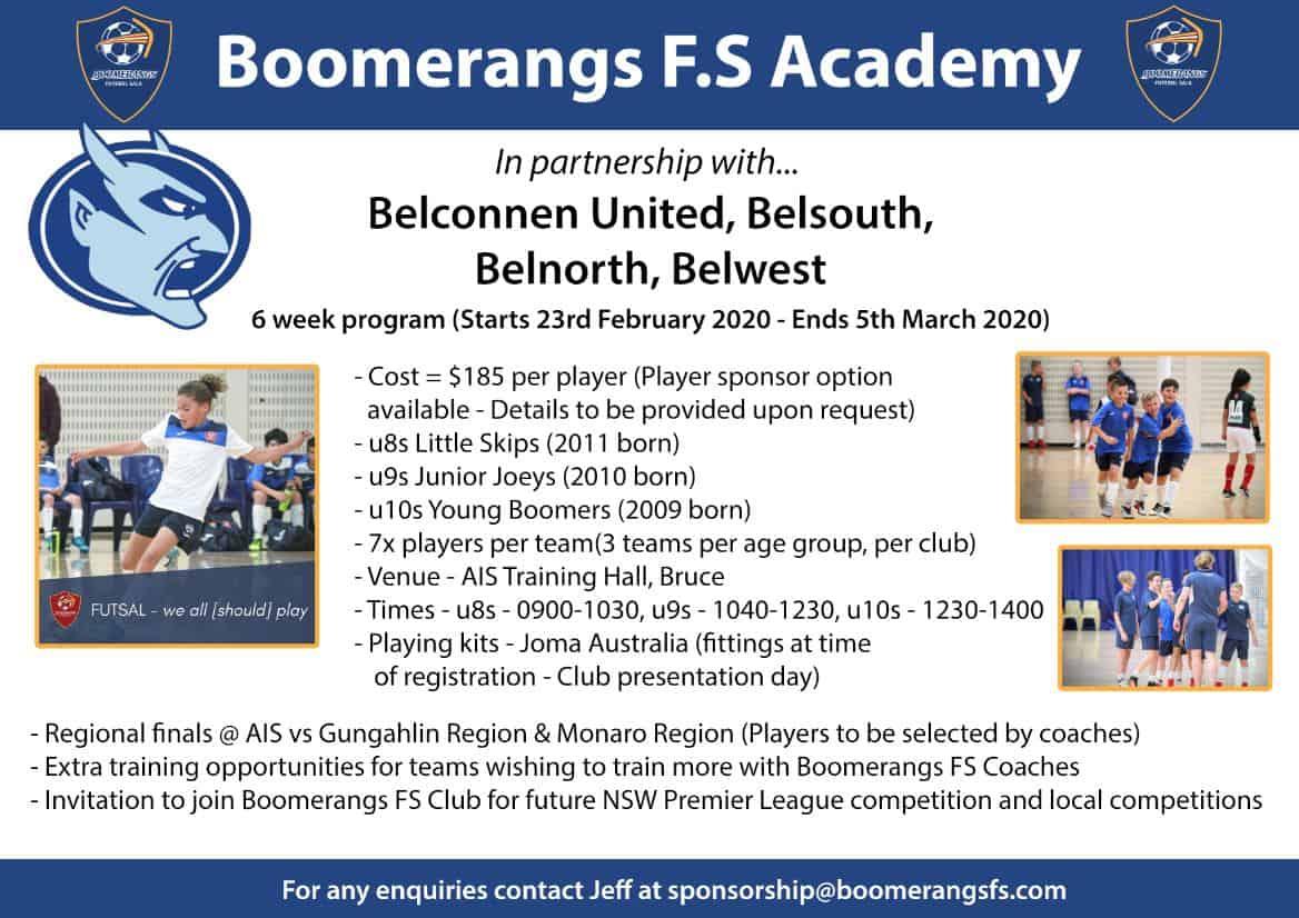 Boomerangs fs Belconnen Academy