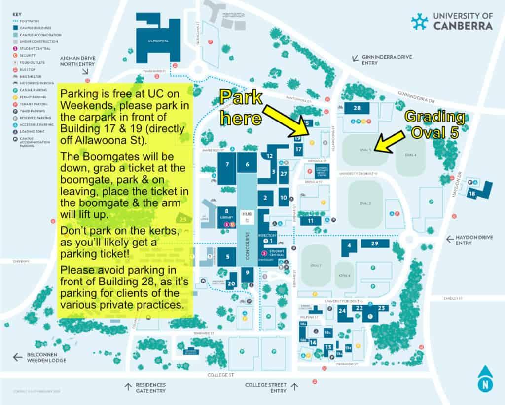 UC parking grading 2020